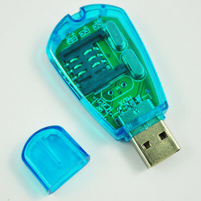 Q4 New Hot Sale Portable Blue USB Cell Phone Sim Card Reader For Backup SMS to P