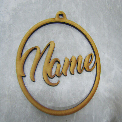 Laser Cut Christmas Bauble - Name