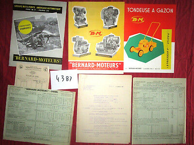N°4387 /  BERNARD-MOTEURS : 7 documents 1947-1964