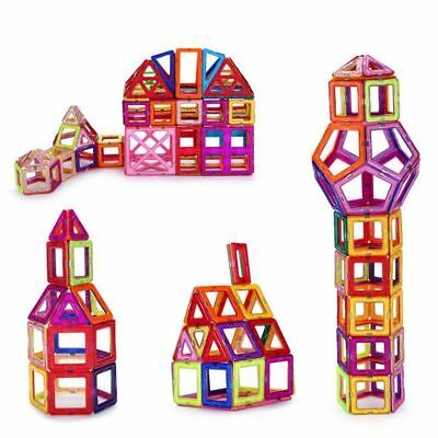 122pcs Magnetic Building Blocks Construction Kids Puzzle Game Toys Xmas Gifts