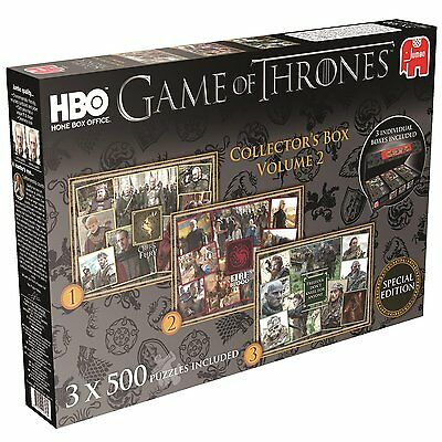 GAME OF THRONES Collector's Box Volume 2 Jigsaw Puzzles (3 x 500-Piece) gift