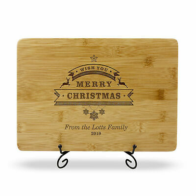 Personalised Cutting Board Engraved Christmas Engagement Anniversary Gift Box