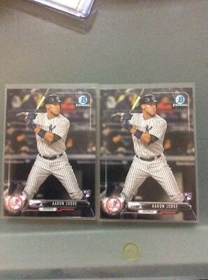 2017 bowman chrome rookie card X2 of Aaron judge. Yankees ROY