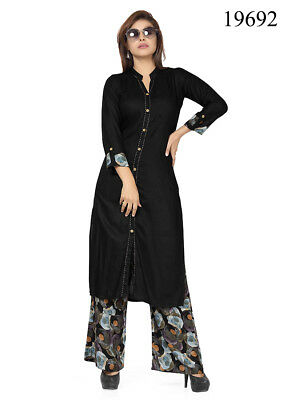 Indian Bollywood Designer new Stylish Printed Lagi Rayon Kurti With Palazzo VND