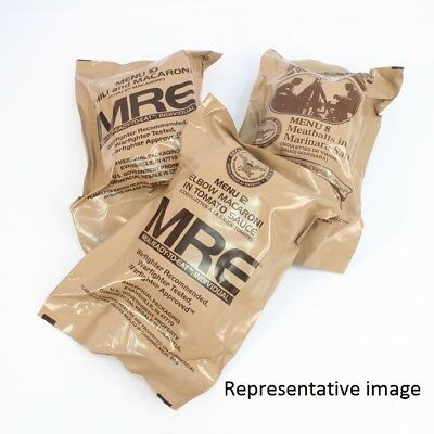 US Army MRE Ration Packs x 3. Military Meal Ready To Eat 3 pack