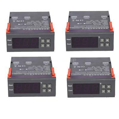 4PCS 10A 110V Digital Temperature Controller -58~194℉ Thermostat w/ Test Sensor