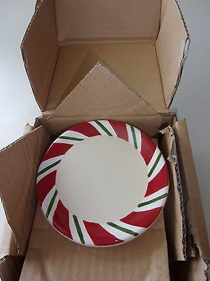 Longaberger Peppermint Twist Coasters Set of 4 Pottery