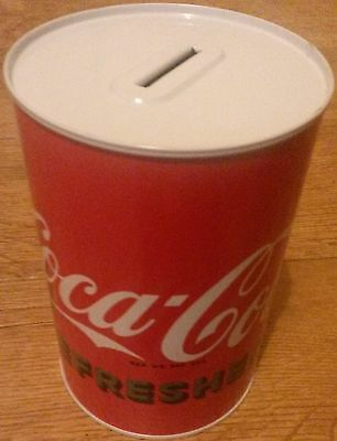 "Coca Cola ""go Refreshed"" Money Box Tin - Rare & Bargain Price"