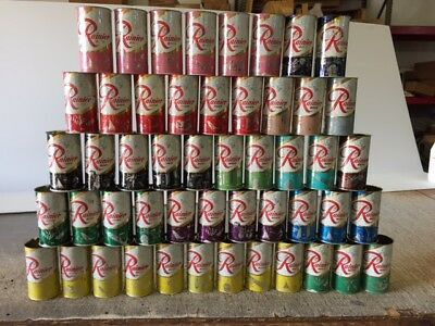 50 Diff COLORS AND DESIGNS Rainier Jubilee Beer Cans PLUS BONUS!! FREE SHIPPING