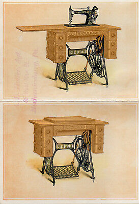 Singer Sewing Machine Open Out Trade Card