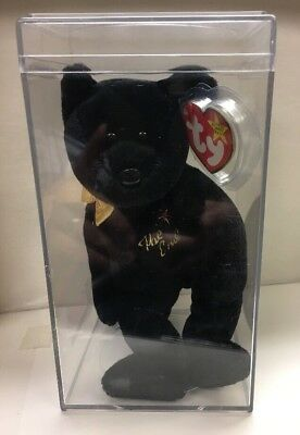 Ty Beanie Baby The End 1999 With Swing Proctor And Display Case -Pe Pellets