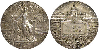 M- CH, Genève, Swiss National Exhibition, AE Medal 1896