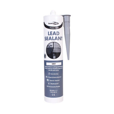 Grey Flash Mate Silicone Lead Sealant Roofing Flashing Leaks Repair Sheet