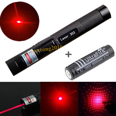 Military Laser Pointer 303 Red 5mW 650nm Pen Lazer Light Visible Beam + Battery