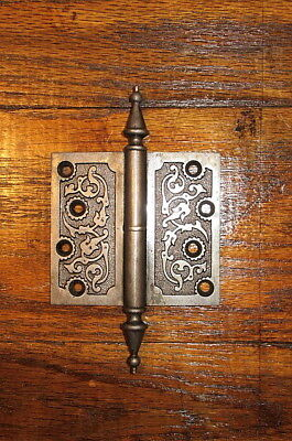 "Vintage Ornate Victorian Cast Iron 4"" X 4 1/2"" Door Hinge"