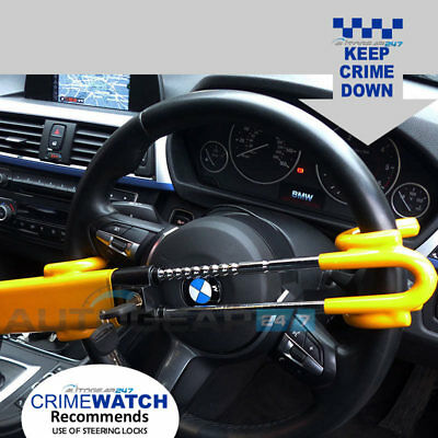 Twin Bar Car Van Motorhome High Security Double Claw Steering Wheel Lock. SWTBL