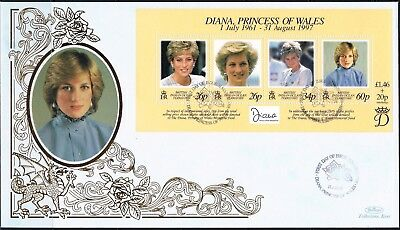 british indian ocean territory 1998 princess diana FDC