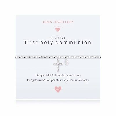 Joma Jewellery Girls CHILDRENS First Holy Communion Silver Plated Cross Bracelet