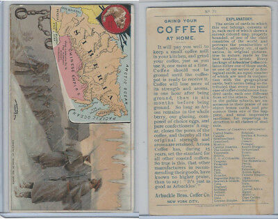 K3 Arbuckle Coffee, Principle Nations of the World, 1890, #71 Siberia