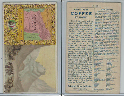 K3 Arbuckle Coffee, Principle Nations of the World, 1890, #100 Afganistan