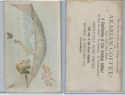 K Card, McNeil & Higgins, 1890's, Girl With Butterfly