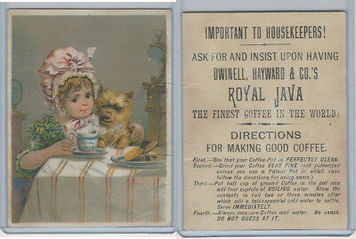 K Card, Royal Java, 1890's, Child With Dog