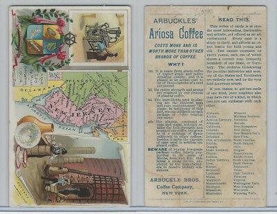 K6 Arbuckle Coffee, Illustrated Atlas of the U.S., 1890, #93 New Jersey