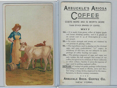 K9 Arbuckle Coffee, General Subjects, 1890, #95 Woman Feeds Cows