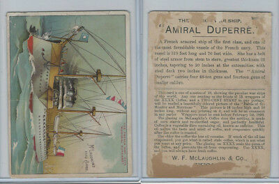 K64 McLaughlin Coffee, Peculiar War Ships, 1890, The French Admiral Duperre