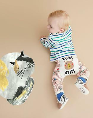 Joules Baby Boys Lively Footless Leggings Made from Cotton Mix in Bear Pack of 2