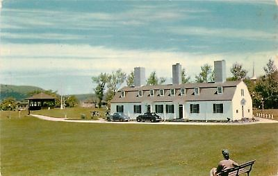 Annapolis Royal Nova Scotia~Old Fort Anne~1940s Cars~Lady on Bench~1960