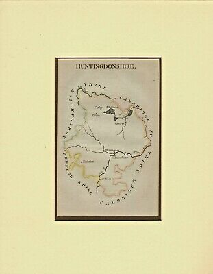 mounted map of huntingdonshire 1804