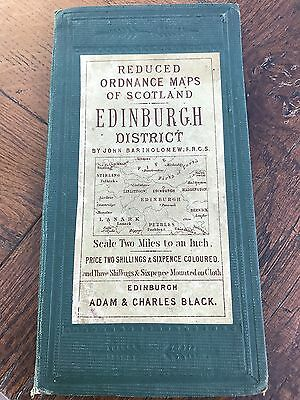 reduced ordnance maps of scotland - edinburgh district .by john bartholomew
