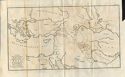 1810 map of several countries people or planted by descendants of noah