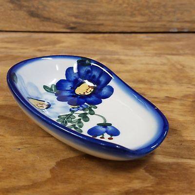 Polish Pottery Spoon Rest  - Ring of Flowers