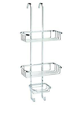 Croydex Chrome Plated Rust Free Mild Steel Three Tier Easy To Fit Shower Caddy