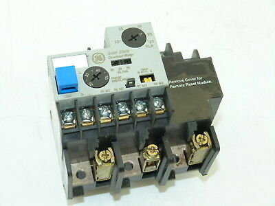 General Electric CR324DXHS Solid State Overload Relay 13 to 27a Used