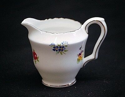 Old Vintage Floral Bouquet Smooth Mini Creamer by Crown Staffordshire England