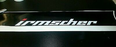 "Black Vauxhall corsa astra irmscher sun strip 50"" wide 8"" high"