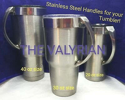 New!! THE VALYRIAN! Stainless Steel Handle Now Available for your Tumbler!