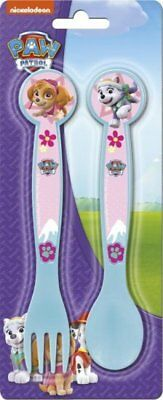 SKYPE Paw Patrol Childrens Childs Cutlery Set Fork Spoon TV Character - New
