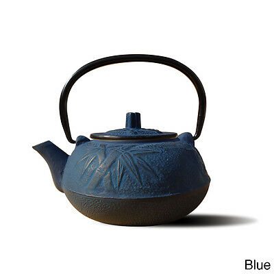 Cast Iron Tea Pot 20 Ounce Blue Kettle Vintage Dutch Oven Wood Stove Humidifier