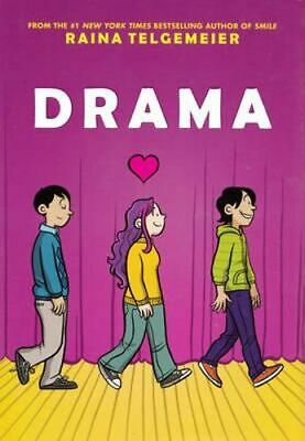NEW Drama By Raina Telgemeier Paperback Free Shipping