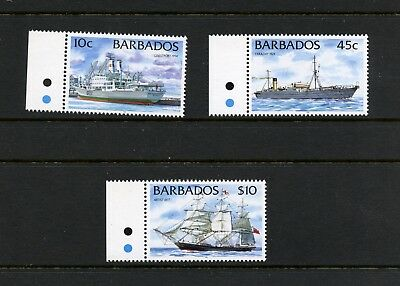 "Barbados 1999  #873C, 7C, 85C     ships  DATED ""1999""   3v.   MNH  L305"