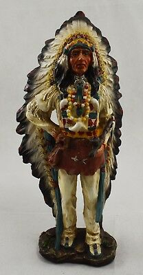 Superb Large Collectable Red Indian Chief Statue/Ornament/Figurine 32cm NEW!!