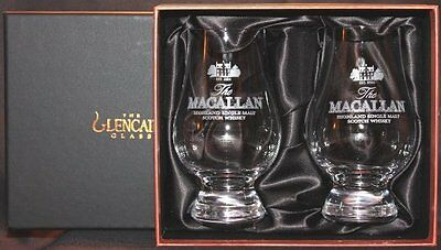 Macallan Two Glass Glencairn Black And Gold Presentation Box