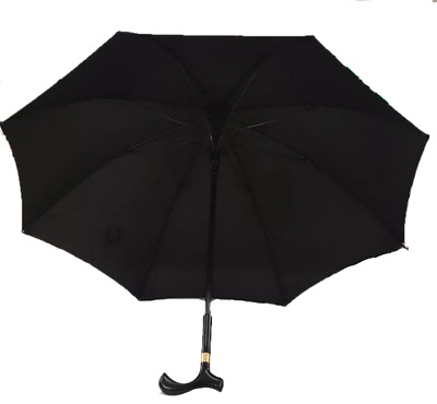 "Cane Umbrella (Canebrella) 35""x44""width Walking Stick-Sun-Rain-Umbrella"