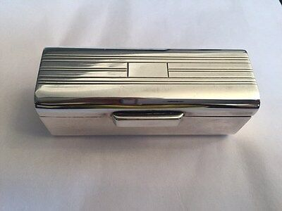 Classic Made in Italy Signed Ralph Lauren SILVER RECTANGULAR BOX/LIPSTICK HOLDER