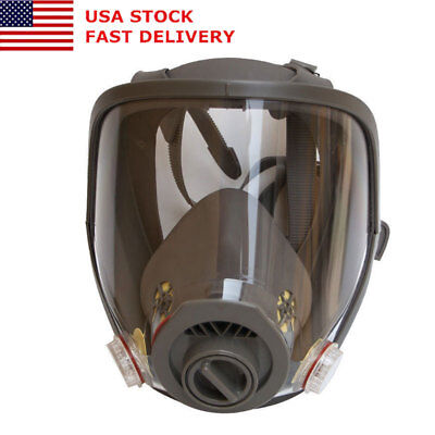 ​US For 3M 6800 Full Face Dust Gas Mask Facepiece Respirator Painting Spraying