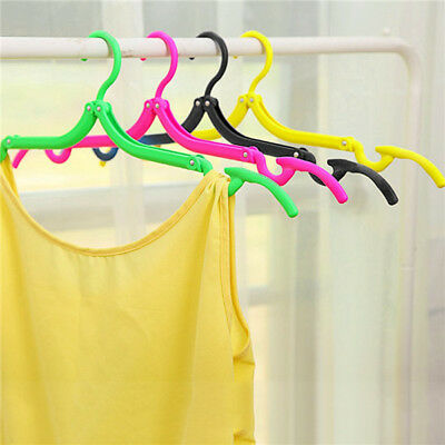 USA 1PCsPortable Clothes Hangers Plastic Clothes Drying Rack Travel Foldable